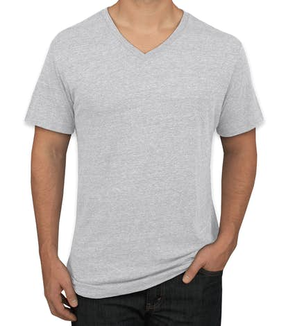 Next Level Tri-Blend V-Neck T-shirt - Heather White
