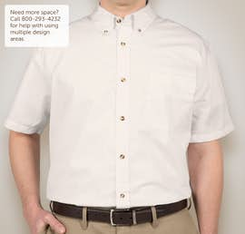 Featherlite Short Sleeve Stain Resistant Twill Shirt - Color: Arctic White / Stone