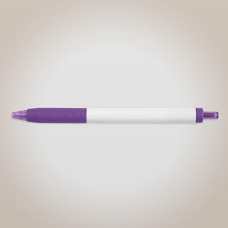 Paper Mate InkJoy White Body Click Pen (black ink) - Purple