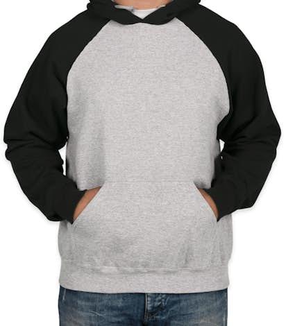 Holloway Raglan 50/50 Pullover Hoodie - Athletic Heather / Black