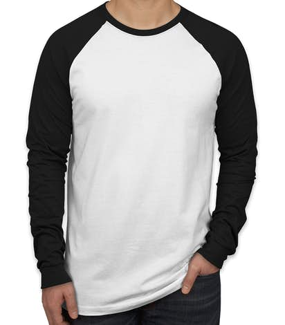 Design Custom Printed Canvas Long Sleeve Raglan Shirts