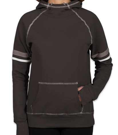 Augusta Juniors Spirit Pullover Hoodie - Black / White / Graphite