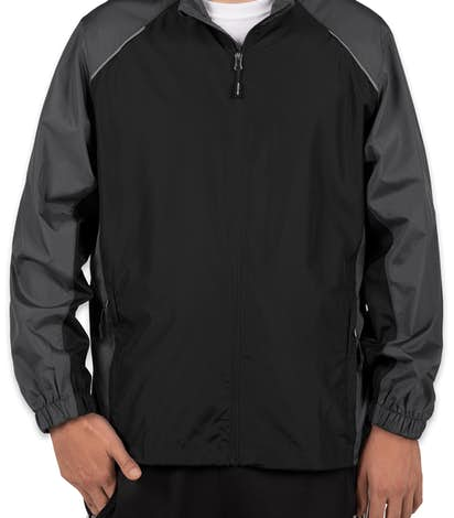 Core 365 Colorblock Lightweight Full Zip Jacket - Black / Carbon