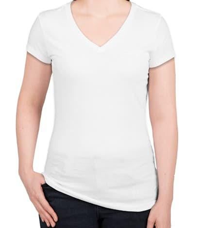 District Juniors Vintage Wash V-Neck T-shirt - White