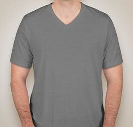 Bella + Canvas Tri-Blend V-Neck T-shirt - Color: Grey Tri-Blend