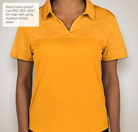 Augusta Ladies Tonal Heather Performance Polo - Color: Gold