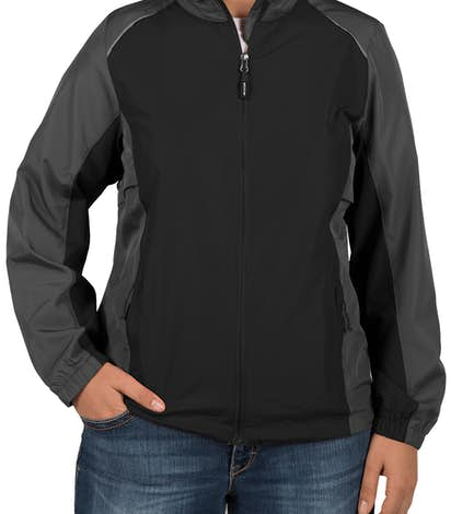 Core 365 Ladies Colorblock Lightweight Full Zip Jacket - Black / Carbon