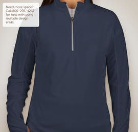 Port Authority Ladies Quarter Zip Microfleece Pullover - Color: True Navy