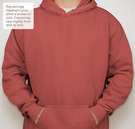 Comfort Colors Hooded Sweatshirt - Color: Crimson