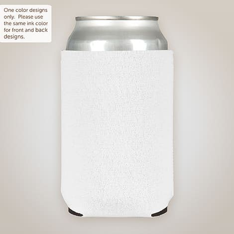 Foldable Neoprene Can Cooler - White