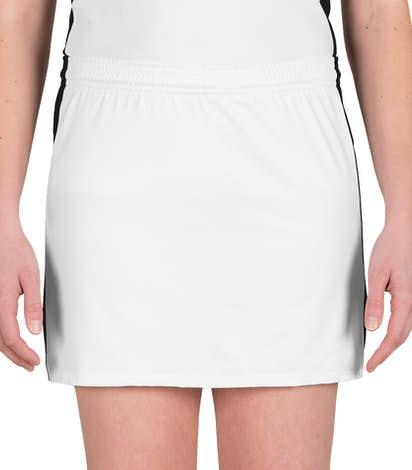 Teamwork Ladies Colorblock Lacrosse Skirt - White / Black