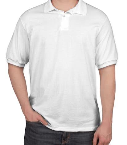 Hanes 50/50 Jersey Polo - White