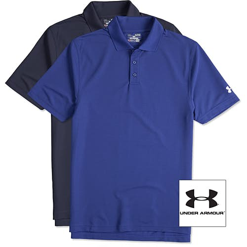 Custom embroidery design embroidered shirts and apparel for Under armour embroidered polo shirts